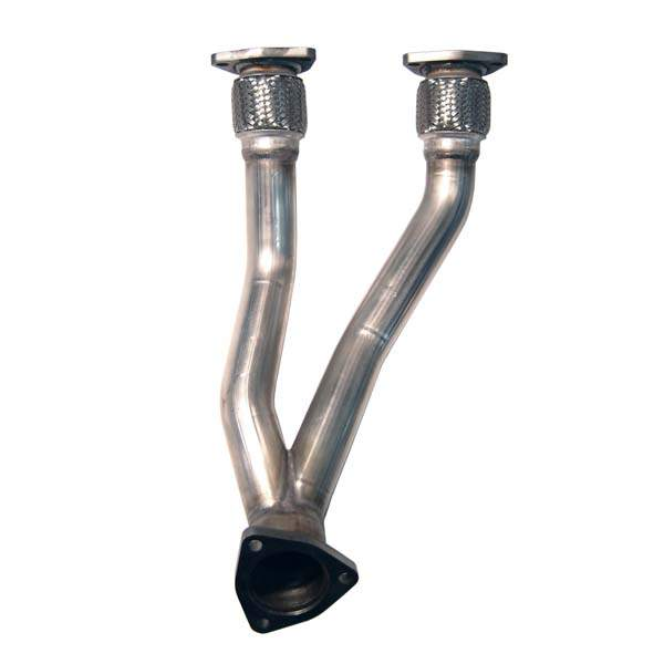 "Mk4 VR6 24v Dual 2"" Stainless Downpipe"