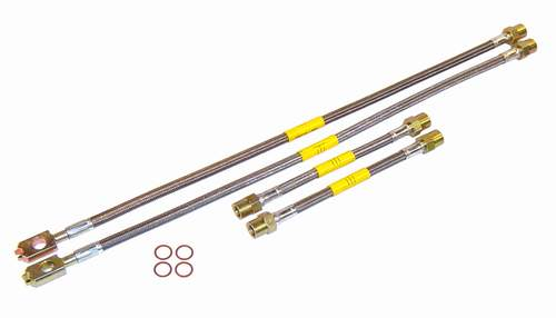 DOT Stainless Steel Brake Lines, '98-'10 Beetle, '99-'06 Mk4