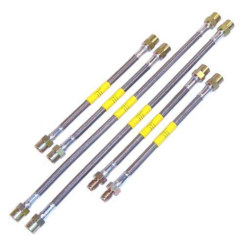 DOT Kevlar Stainless Steel Brake Lines, Passat 16V, VR6 to 95, P
