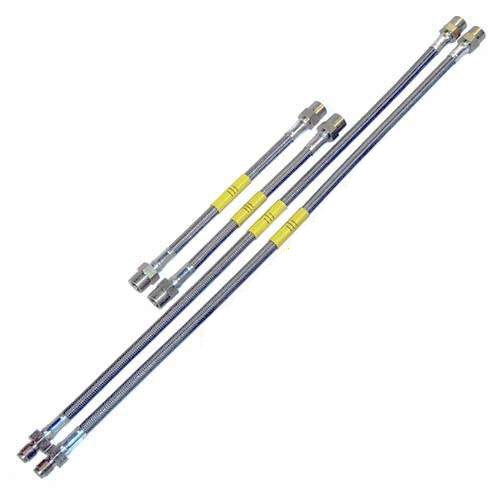 DOT Kevlar Stainless Steel Brake Lines, Mk3 w/ Rear Drums