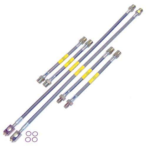 DOT Kevlar Stainless Steel Brake Lines, Mk3 VR6 96-99