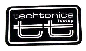 TT Logo Decal (White on Black)